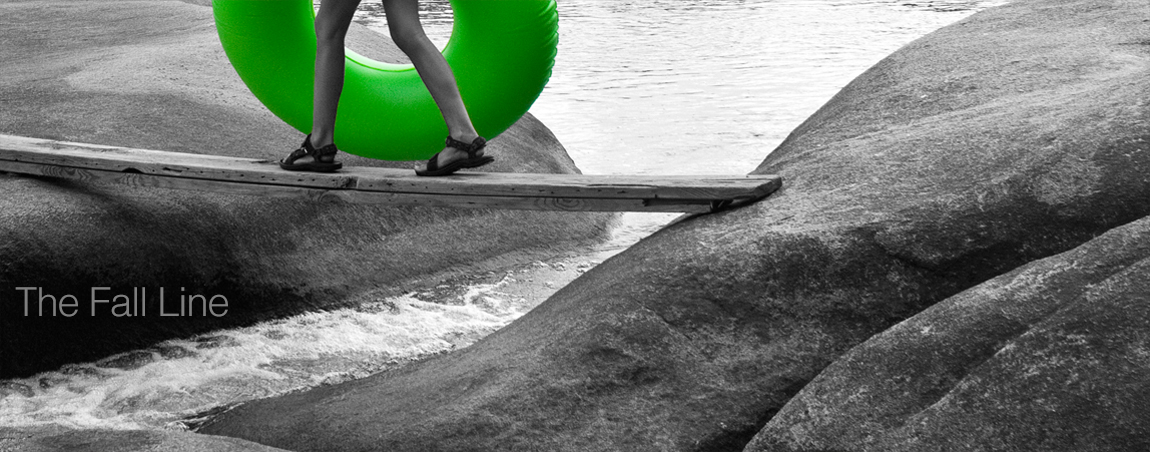 Image: Green Innertube, Pony Pasture rapids, Richmond, VA